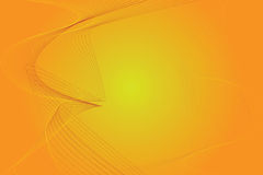 Orange and yellow background. Sunny orange and yellow background with  curly lines with copy space Stock Images