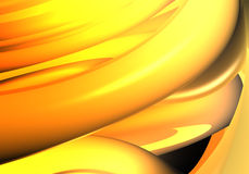 Orange&yellow background (abstract). A Study of Form&Colors, rendered in Bryce Royalty Free Stock Image