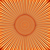 Orange-yellow background in the form of the sun. Illustration, the bright sparkling rays of the sun Stock Photo