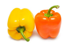 Orange and yellow Bell peppers Royalty Free Stock Photo