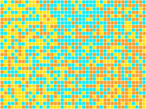 Orange, Yellow and Blue Mosaic. Stock Photography