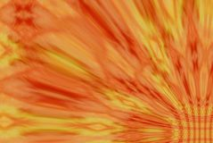 Orange and yellow blur. Warm orange, melon, and yellow blurs stretch out from a weave in the corner. Great for backgrounds Royalty Free Illustration