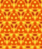 Orange yellow brown color abstract geometric seamless pattern Royalty Free Stock Photos