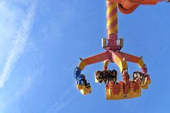 Orange and Yellow Carnival Ride-on royalty free stock photography