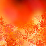 Orange yellow Christmas bokeh background. EPS 8 Stock Photo