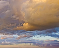 Orange-yellow clouds Royalty Free Stock Photography