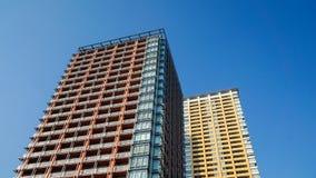 Orange and Yellow Condominium royalty free stock photo