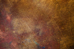 Orange-yellow copper surface close-up texture Stock Photo