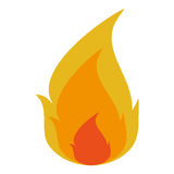 Orange and yellow fire icon. Orange and yellow fire flame  illustration Royalty Free Stock Image