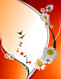 Orange yellow  floral background Stock Images
