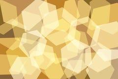 Orange Yellow Gold Hexagon Abstract Background Royalty Free Stock Photos