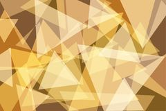 Orange Yellow Gold Triangle Abstract Background. Vector Illustration royalty free illustration