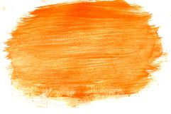 Orange Yellow Gouache Royalty Free Stock Photography
