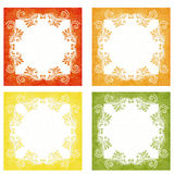 Orange, Yellow and Green Elegant Backgrounds Royalty Free Stock Images