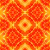 Orange yellow kaleidoscope mosaic seamless pattern texture background Stock Photo