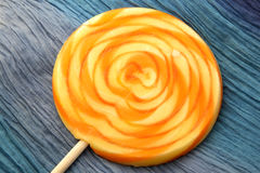 Orange and Yellow Lollypop Stock Images
