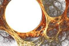 Orange-yellow plasma Stock Images