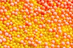Orange and yellow polystyrene background Royalty Free Stock Images