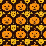 Orange yellow pumpkin Halloween Royalty Free Stock Photos