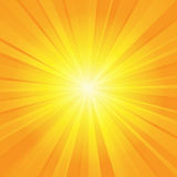 Orange yellow ray background Stock Photography