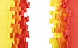 Orange yellow red ripped paper background Royalty Free Stock Image