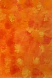 Orange, yellow and red watercolor background Royalty Free Stock Images