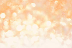 Orange yellow soft bokeh abstract light background.  Royalty Free Stock Images
