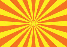 Orange yellow starburst pattern Stock Images