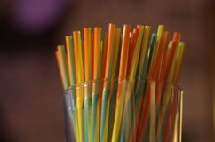 Orange and Yellow Straw Royalty Free Stock Photos