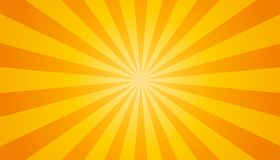 Orange And Yellow Sunburst Background - Vector Illustration. From White To Orange vector illustration