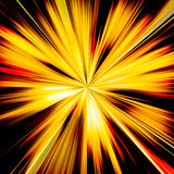 Orange and yellow sunburst beams illustration Royalty Free Stock Photo