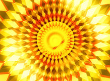 Orange yellow sunrise center radiance background Stock Images