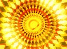 Orange Yellow Sunrise Center Radiance Background Stock Images