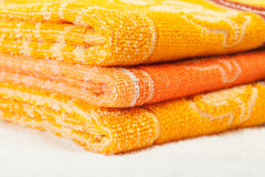 Orange and yellow Towels Stock Image