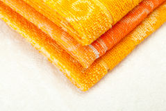 Orange and yellow Towels Stock Photo
