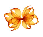 Orange Yellow Transparent Bow Top View Close up Royalty Free Stock Image