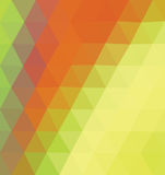 Orange and yellow triangle. Royalty Free Stock Photo
