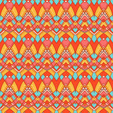 Orange and yellow tribal pattern Stock Images