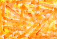 Orange yellow watercolor macro textured background. Colorful bright hand drawn grunge aquarelle illustration royalty free stock images
