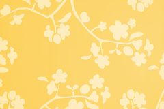 Orange Yellow White Blossom Background. A flowery lotus blossom background in orange yellow and white stock illustration