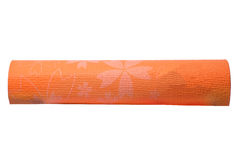 Orange yoga mat on a white background Royalty Free Stock Photos