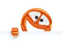 Orange Zeichen Lizenzfreies Stockfoto