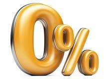 Orange zero percent. Orange zero percent, 3d illustration isolated on white background, 0 Royalty Free Stock Photos