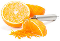 Orange zest Stock Images