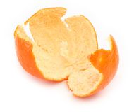 Orange zest on white Royalty Free Stock Photography