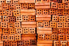 Orange Ziegelstein Lizenzfreie Stockfotos