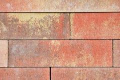 Orange Ziegelstein deckt Beschaffenheit mit Ziegeln Stockfotos
