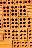 Ziegelstein mit Loch Lizenzfreies Stockfoto
