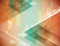 Orange Zigzag. Abstract geometric background in orange and green Royalty Free Stock Photography