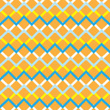 Orange zigzag seamless pattern Royalty Free Stock Images